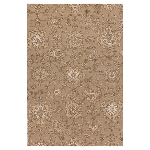 Taupe Abstract Tufted Area Rug - (6'x9') - Surya - image 1 of 3