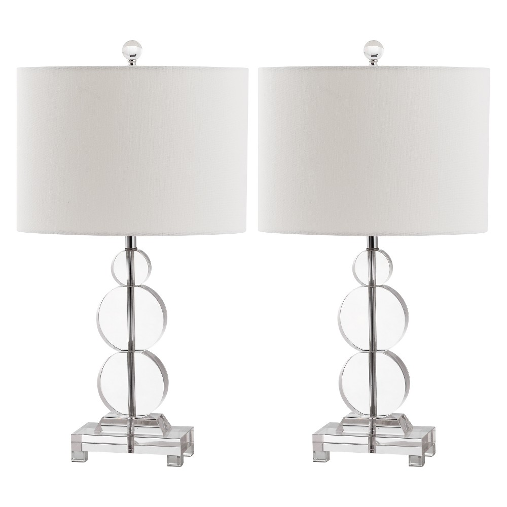 Moira Crystal Table Lamp (Set of 2) - Safavieh, Clear/White