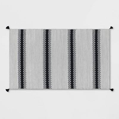 Outdoor Rug Argyle Stripe Black - Threshold™