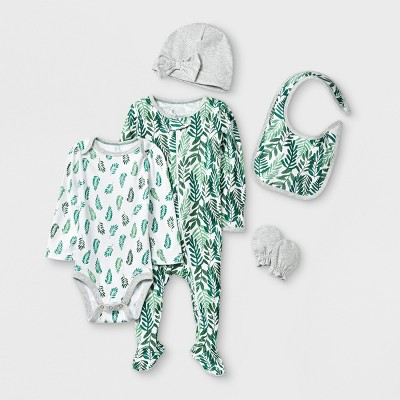 Baby Girls' 5pc Layette Sets - Cloud Island™ 0-3M