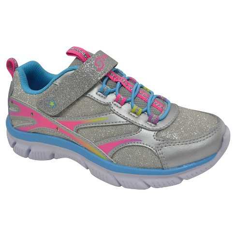 Girls' S Sport By Skechers Limelight 2.0 Performance Athletic Shoes - Silver - image 1 of 4