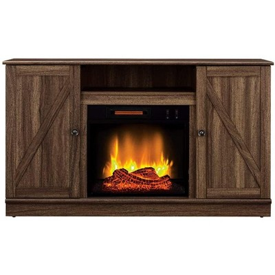 HearthPro Alexander Electric Fireplace Media Console in Weathered Brown - SP6547-OF