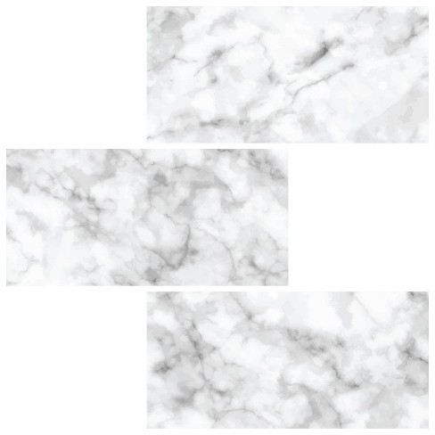 Brewster Subway Carrara Peel Stick Backsplash Tile Paper White Target