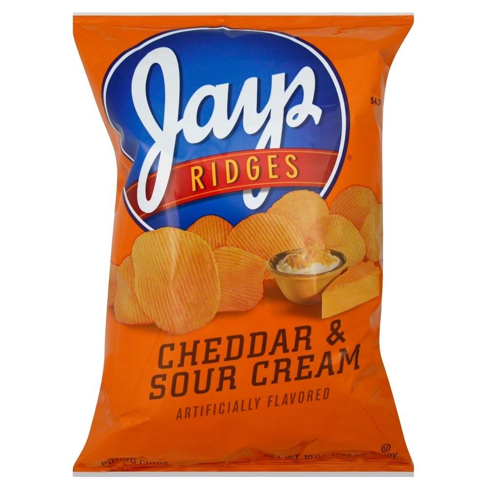 Jays Ridges Cheddar & Sour Cream Potato Chips - 10 oz