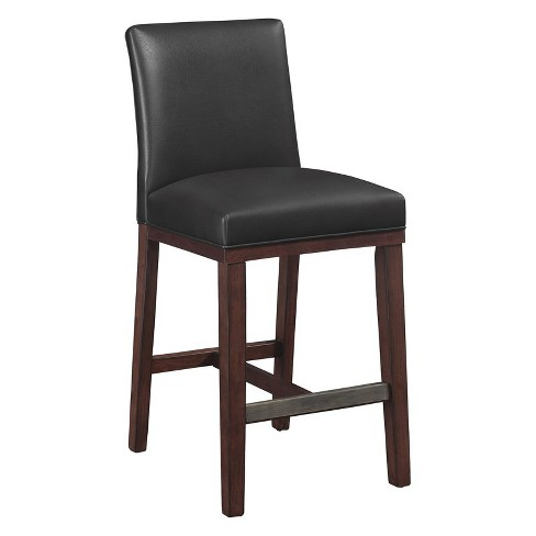 Astounding Simone Charcoal Leather Gel Counter Stool In Espresso Comfort Pointe Pdpeps Interior Chair Design Pdpepsorg