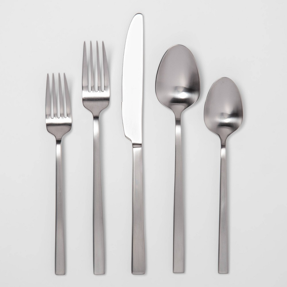 Image of 20pc Stainless Steel Silverware Set Silver - Project 62