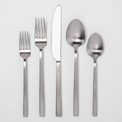 20pc Stainless Steel Silverware Set Silver - Project 62™