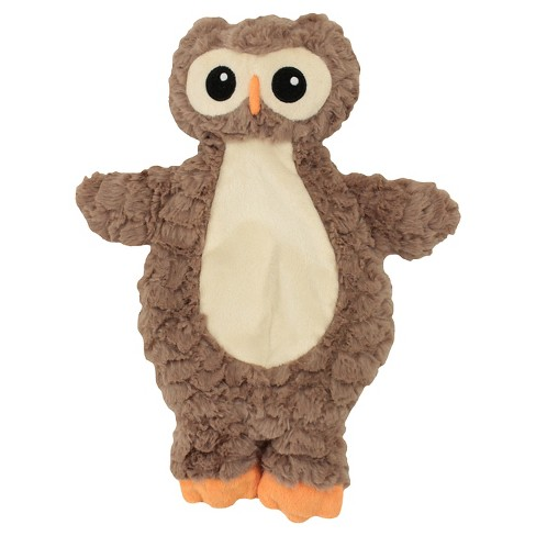 Plush Cuddle Owl with Unstuffed Body and 5 Squeakers Dog Toy - M - Tan - Boots & Barkley™ - image 1 of 1