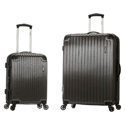 Rockland Santorini 2pc Expandable Polycarbonate Spinner Luggage Set - Gray