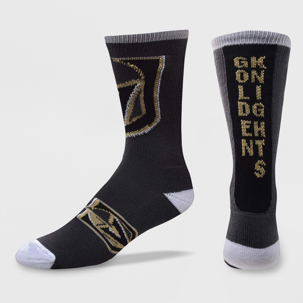 NHL Vegas Golden Knights Ticket Crew Socks, Men's, Size: Large
