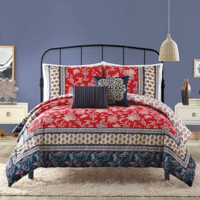 Indigo Bazaar 5pc Marbella Comforter & Sham Set Red