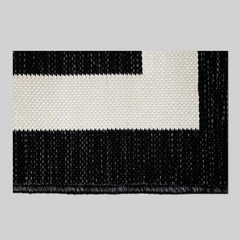 5 X 7 Mitre Stripe Outdoor Rug Black Project 62 Target