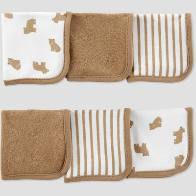 Baby Boys' Bear Washcloth Set - Just One You® made by carter's Brown/White