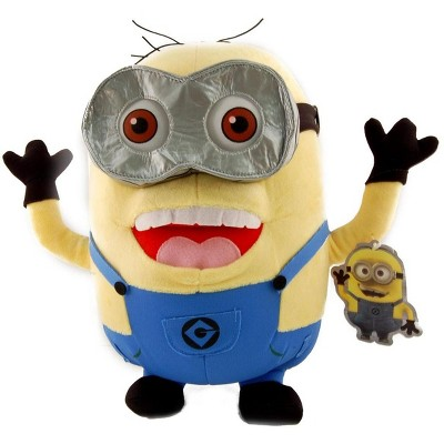 """Toy Factory Despicable Me 2, 2 Eyed With Open Mouth Minion Jorge 12"""" Plush"""