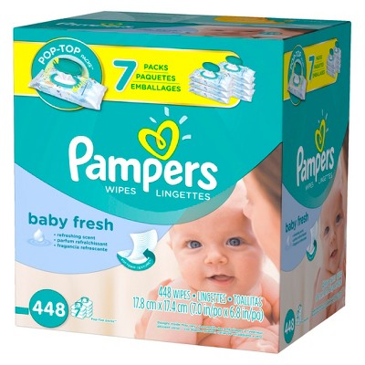 Pampers Baby Fresh Baby Wipes 7x Pop-Top Pack - 448 ct