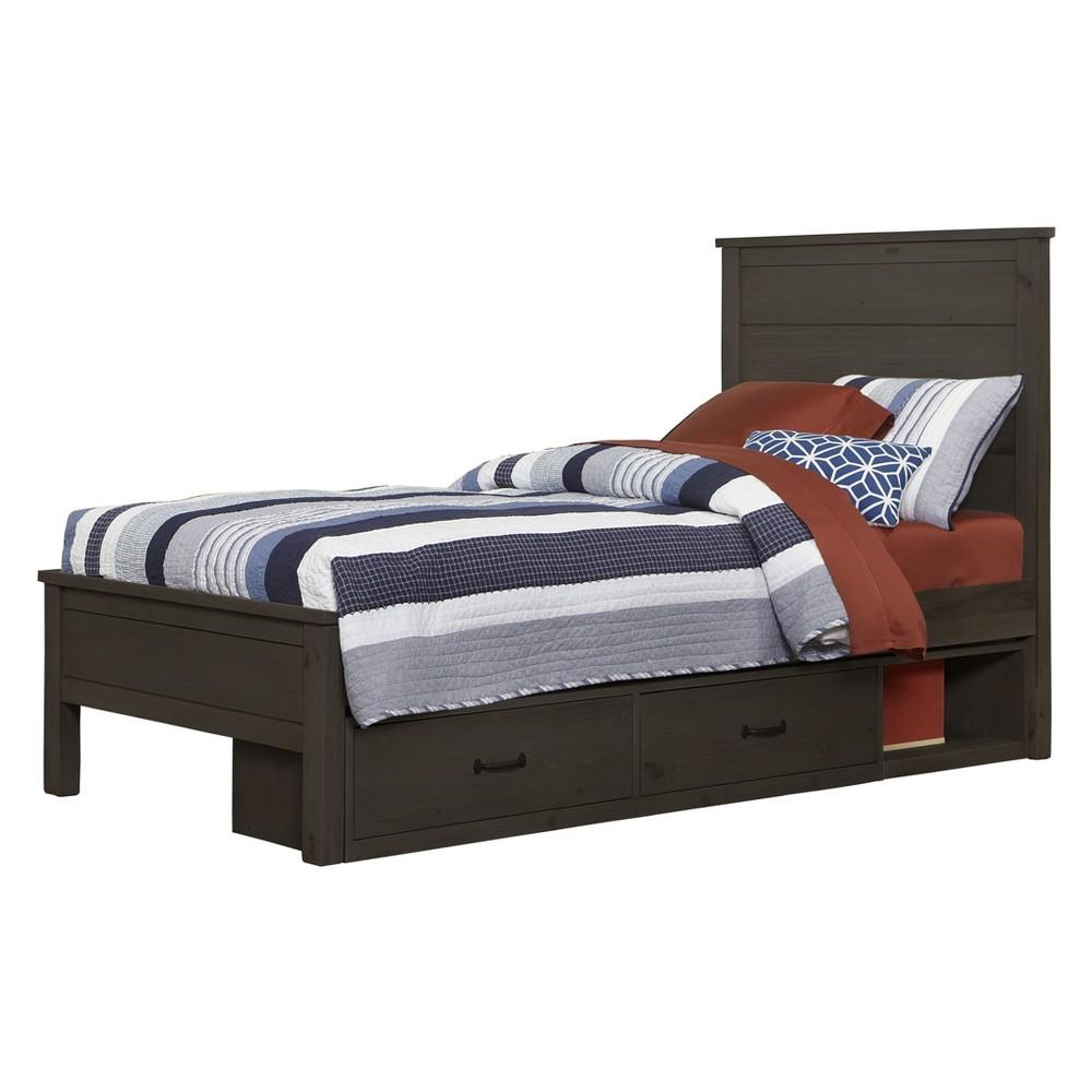 Full Highlands Alex Panel Bed with Storage Espresso (Brown) - Hillsdale Furniture