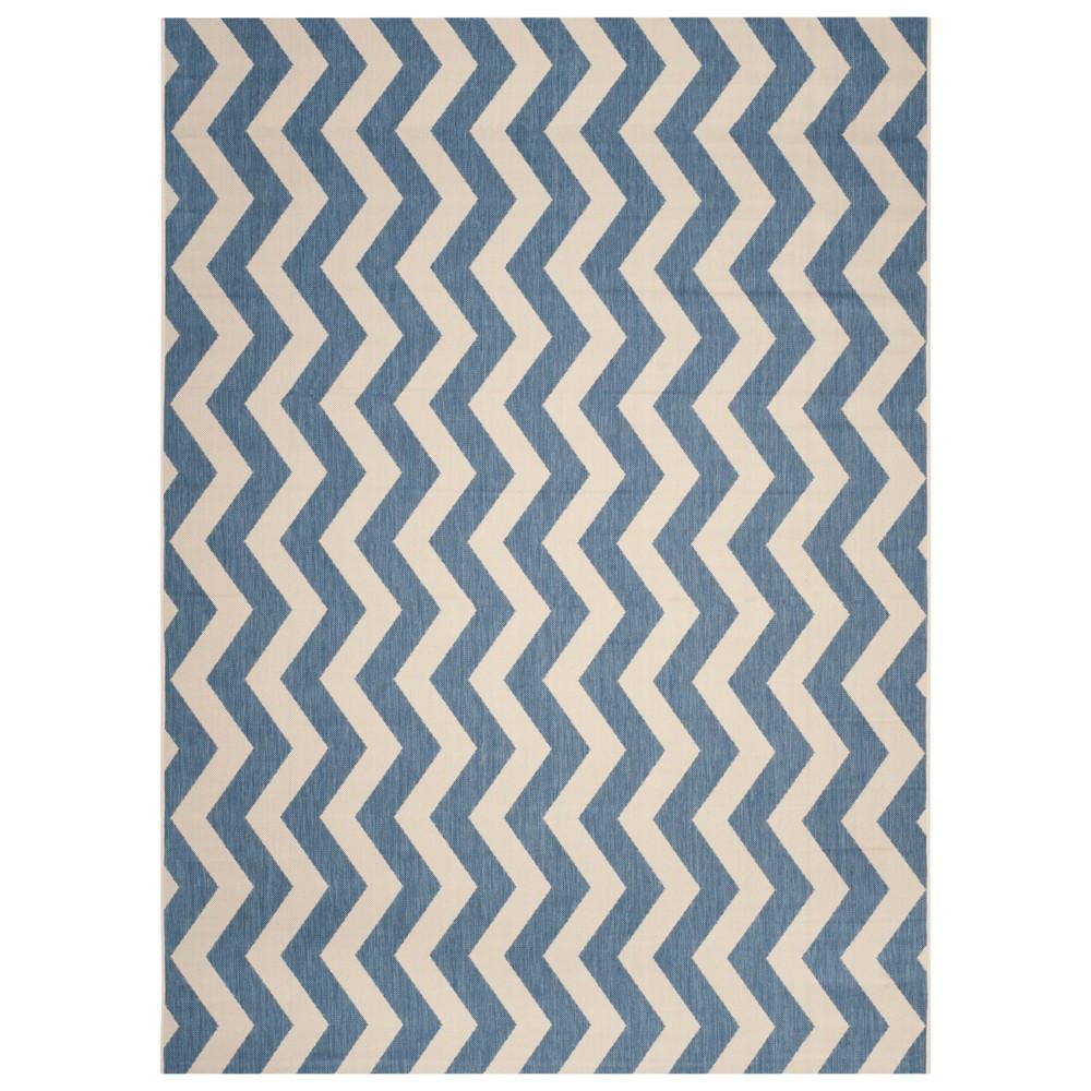 Wels Rectangle 8'X11' Outdoor Patio Rug - Blue / Beige - Safavieh