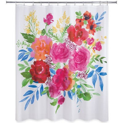 Floral Burst Shower Curtain - Allure Home Creation