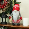 """Northlight 29.5"""" Plush Red and Gray Nordic Santa Christmas Gnome with Burlap Sack Tabletop Figure - image 3 of 3"""