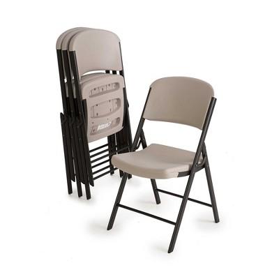 Lifetime Heavy Duty Folding Chair - Putty (Set of 4)