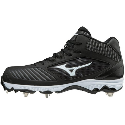Mizuno 9-Spike Advanced Sweep 4 Mid Womens Metal Softball Cleat Womens Size 8 In Color Black-White (9000) - image 1 of 4