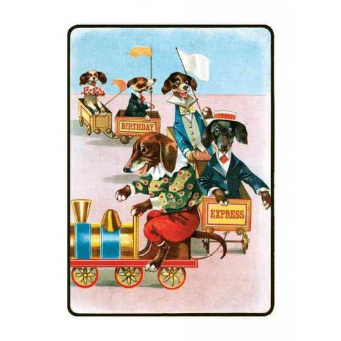 Dachshunds on a train birthday greeting cards stationery target about this item m4hsunfo