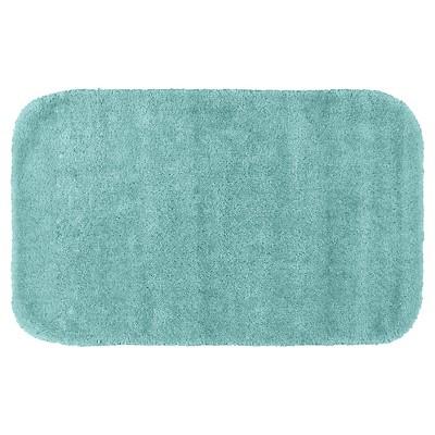 Garland Traditional Plush Washable Nylon Bath Rug - Sea foam (24 x40 )