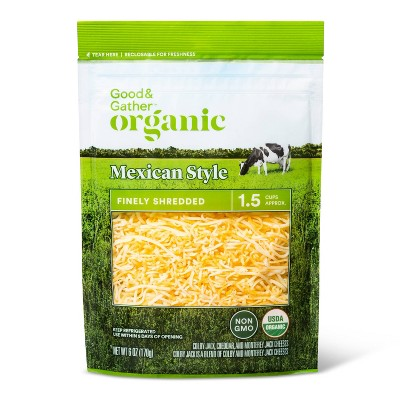 Organic Finely Shredded Mexican-Style Cheese - 6oz - Good & Gather™