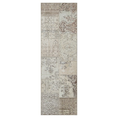 Antique Patchwork Rug Earthy - Istanbul Vintage Looms - image 1 of 1