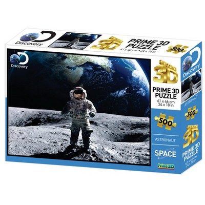 The Zoofy Group LLC Space Astronaut Super 3D 500 Piece Jigsaw Puzzle For Adults And Kids