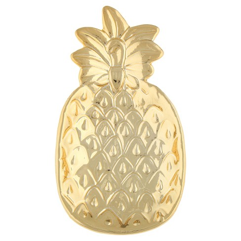 Women's Ceramic Die Cut Trinket Tray Pineapple - Gold Combo - image 1 of 2