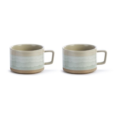 DEMDACO Happiness Comes in Waves Soup Mug - Set of 2 Blue