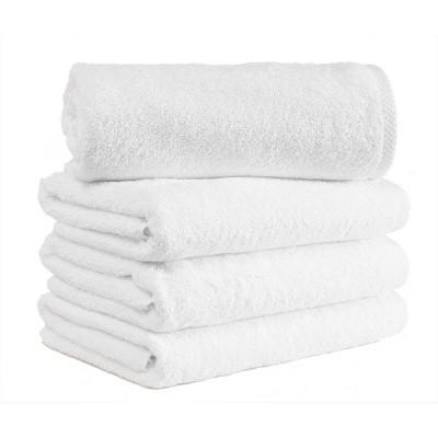 4pc Arsenal Turkish Hotel Collection Bath Towel Set White - Makroteks