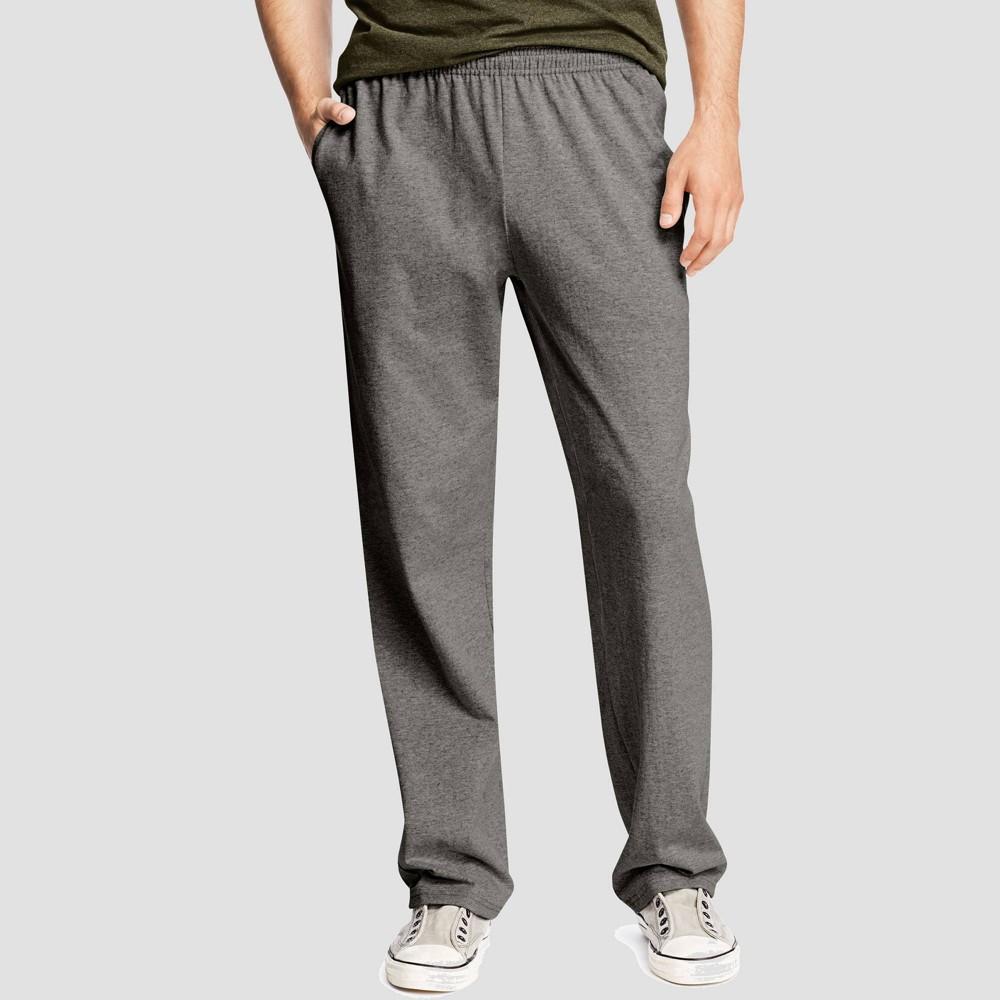 Hanes Men 39 S Big 38 Tall Jersey Pants Charcoal Heather 3xl