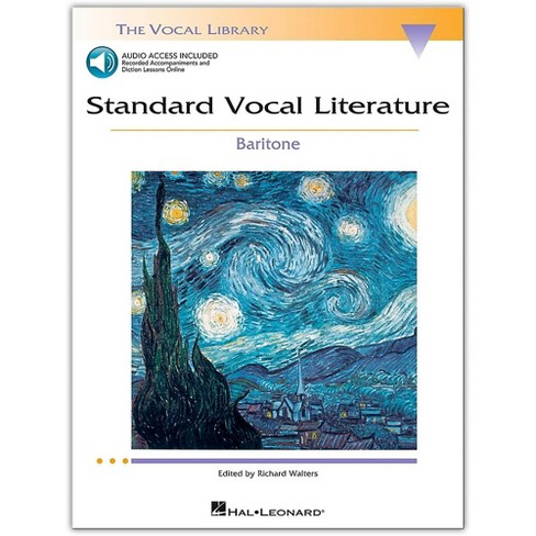 Hal Leonard Standard Vocal Literature - An Introduction To Repertriore for Baritone (Book/Online Audio) - image 1 of 1