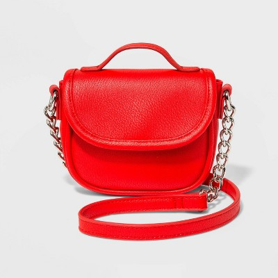 Saddle Crossbody Bag With Handle   Wild Fable Red by Wild Fable Red