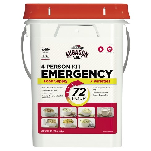 Augason Farms 72-Hour 4-Person Emergency Food Supply - 14lb Pail - image 1 of 11