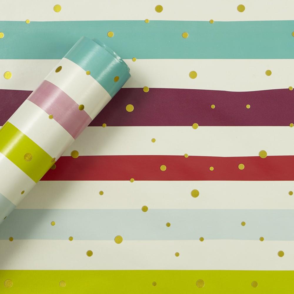 Image of Bold Stripe Gift Wrap Paper - Spritz