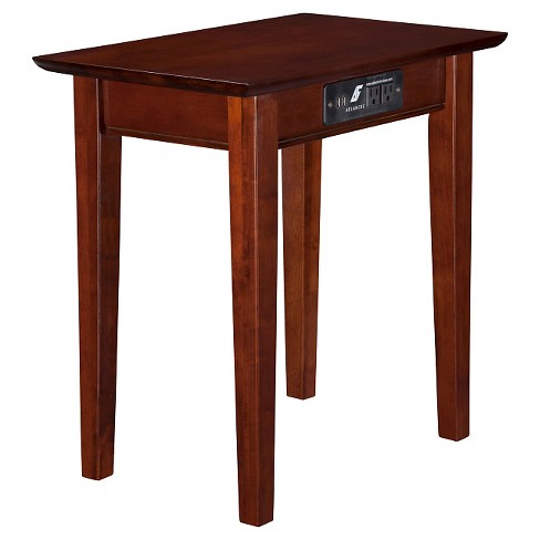 Shaker Chair Side Table With Charger, Shaker Inspired Furniture