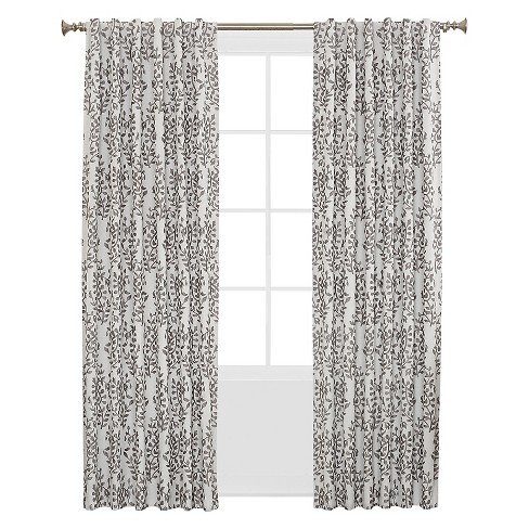 Sun Zero Rona Woven Floral Blackout Lined Energy Efficient Back-Tab Curtain Panel - image 1 of 4