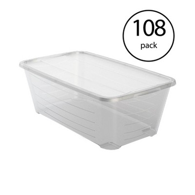 Life Story 5.7-Liter Clear Shoe & Closet Storage Box Container (108 Pack)