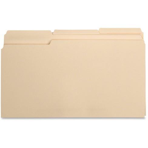Business Source 100ct 1/3 Cut 1-Ply Top Tab Manila File Folders - image 1 of 2