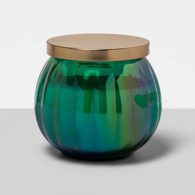 14oz Iridescent Glass Jar Candle Willow & Fern - Floral Collection - Opalhouse™