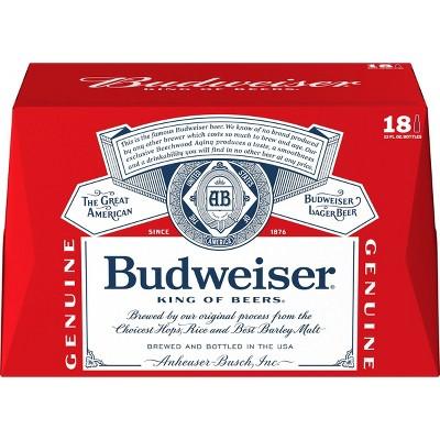 Budweiser Lager Beer - 18pk/12 fl oz Bottles