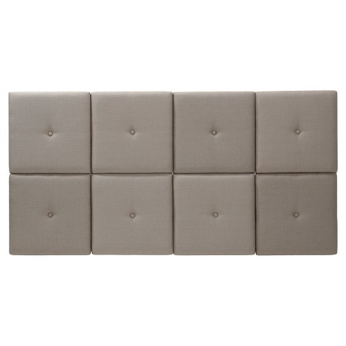 aca9e70b40 Upholstered Headboard Tiles With Tuft - Foremost : Target