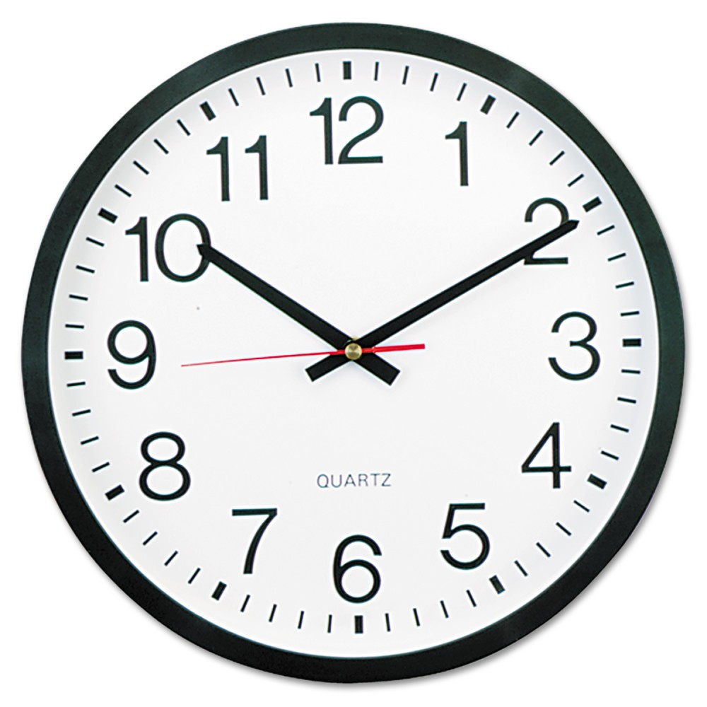 "Image of ""12"""" Round Wall Clock White/Black - Universal"""