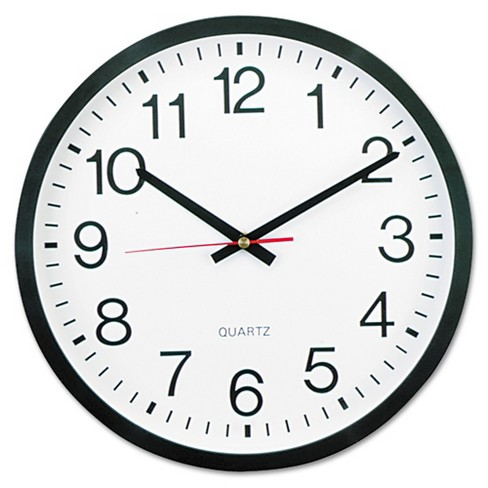 "12"" Round Wall Clock White/Black - Universal - image 1 of 2"