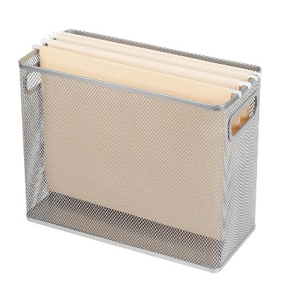 Mesh Hanging File Box Silver - Made By Design™
