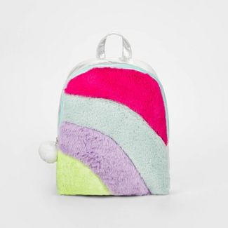 Girls' Rainbow Faux Fur Backpack - Cat & Jack™