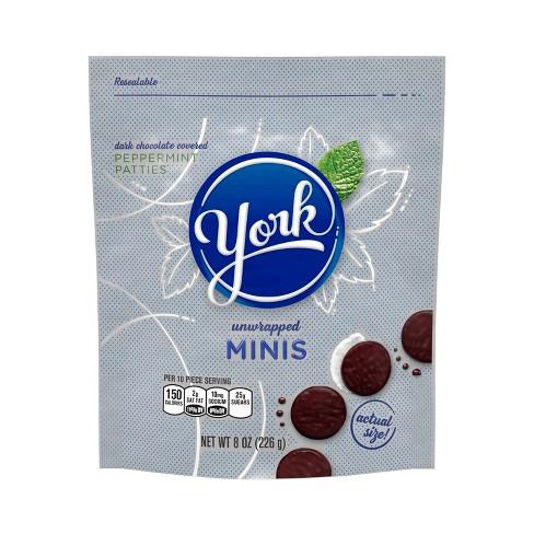 YORK Dark Chocolate Peppermint Patties Minis - 8oz - image 1 of 4